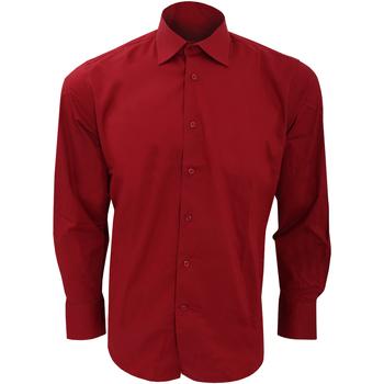 Textil Homem Camisas mangas comprida Sols Brighton Borgonha