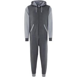Textil Macacões/ Jardineiras Comfy Co CC003 Carvão Vegetal/Coleão Cinza