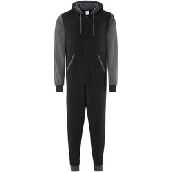 Textil Macacões/ Jardineiras Comfy Co CC003 Carvão negro