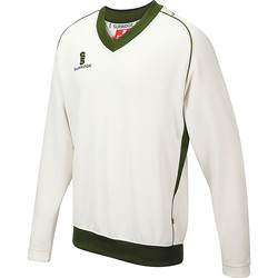 Textil Rapaz camisolas Surridge SU08B Branco/ Verde guarnição