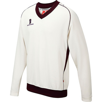 Textil Rapaz camisolas Surridge SU08B Branco/ Maroon trim