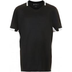Textil Criança T-Shirt mangas curtas Sols 01719 Preto/branco
