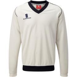 Textil Rapaz camisolas Surridge SU08B Branco/ Acabamento da Marinha