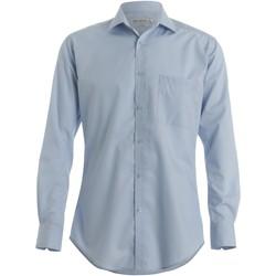 Textil Homem Camisas mangas comprida Kustom Kit KK113 Azul claro