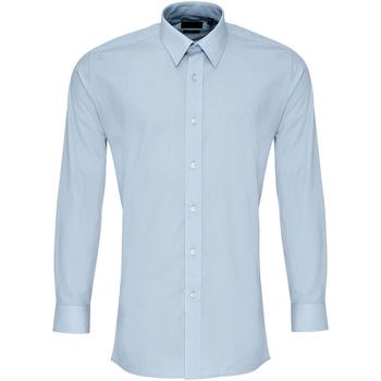 Textil Homem Camisas mangas comprida Premier PR204 Azul claro