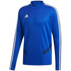 Textil Homem T-shirt mangas compridas adidas Originals Tiro 19 Training Top Azul