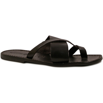 Sapatos Homem Chinelos Gianluca - L'artigiano Del Cuoio 545 U NERO CUOIO nero