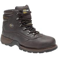 Sapatos Homem Calçado de segurança Grafters  Cavalo Louco Marrom