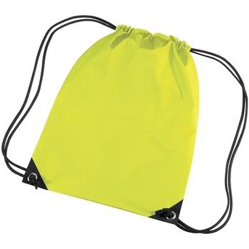Malas Criança Saco de desporto Bagbase BG10 Amarelo Fluorescente