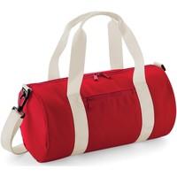 Malas Saco de desporto Bagbase  Vermelho / Branco clássico