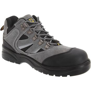 Sapatos Homem Sapato de segurança Grafters  Cinza Escuro/Preto