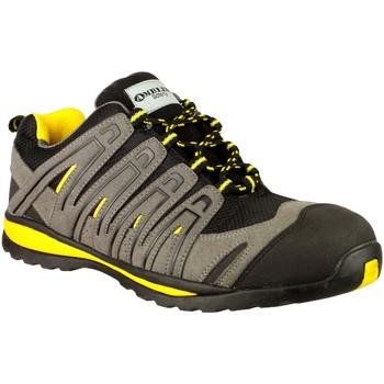 Sapatos Homem Sapatilhas Amblers 42C S1P HRO Preto/Cinza/Amarelo