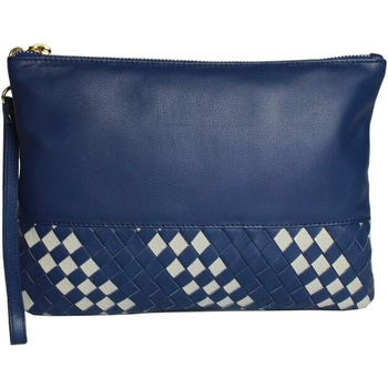 Malas Mulher Pouch / Clutch Eastern Counties Leather  Azul/tomo
