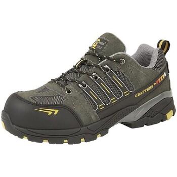 Sapatos Homem Sapato de segurança Grafters  Cinza/amarelo