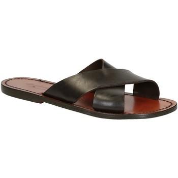 Sapatos Homem Sandálias Gianluca - L'artigiano Del Cuoio 560 D MORO CUOIO Testa di Moro