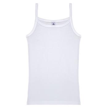 Textil Rapariga Tops sem mangas Petit Bateau 53295 Branco