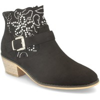 Sapatos Mulher Botins Flyfor J120 Negro