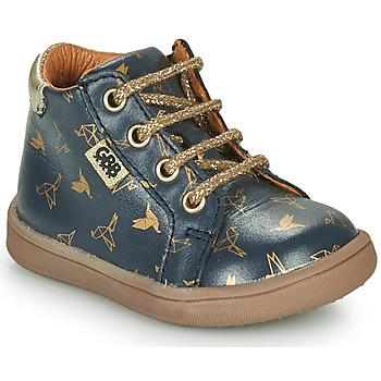 Sapatos Rapariga Botas baixas GBB FAMIA Azul / Ouro