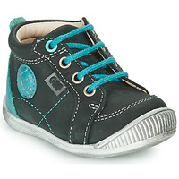 Sapatos Rapaz Botas baixas GBB OLAN Preto / Azul