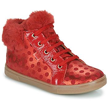 Sapatos Rapariga Sapatilhas de cano-alto GBB JUNA Vermelho