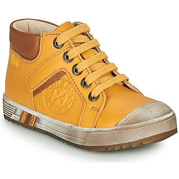 Sapatos Rapaz Sapatilhas de cano-alto GBB OLANGO Amarelo