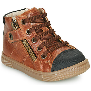 Sapatos Rapaz Sapatilhas de cano-alto GBB KAMIL Castanho