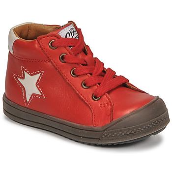 Sapatos Rapaz Sapatilhas de cano-alto GBB KASSIO Vermelho