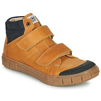 Sapatos Rapaz Sapatilhas de cano-alto GBB HENI Conhaque