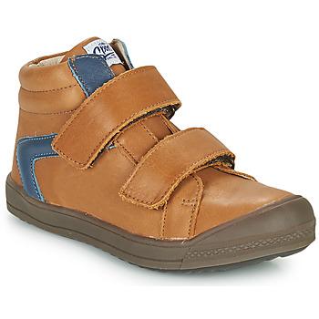 Sapatos Rapaz Sapatilhas de cano-alto GBB KOLAN Castanho