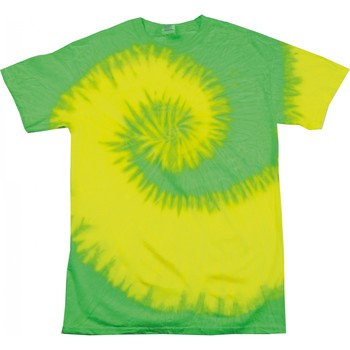 Textil Mulher T-Shirt mangas curtas Colortone Rainbow Amarelo Fluorescente/ Cal
