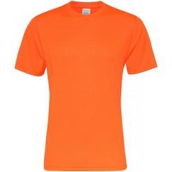Textil Homem T-Shirt mangas curtas Awdis JC020 Laranja elétrica