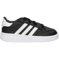 Sapatos Rapaz Sapatilhas adidas Originals - Team court el i nero/bco EG9092 NERO