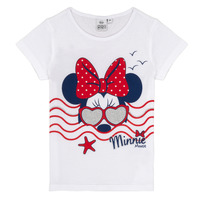 Textil Rapariga T-Shirt mangas curtas TEAM HEROES MINNIE Branco
