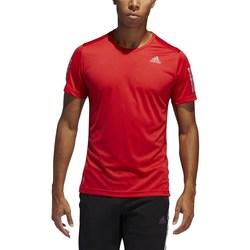 Textil Homem T-Shirt mangas curtas adidas Originals Own The Run Tee Vermelho