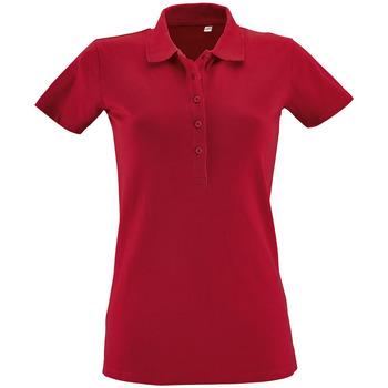 Textil Mulher Polos mangas curta Sols PHOENIX WOMEN SPORT Rojo