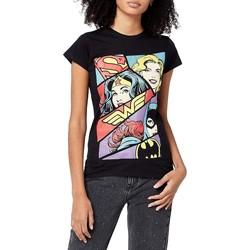 Textil Mulher T-Shirt mangas curtas Justice League  Preto