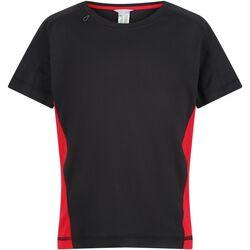 Textil Criança T-Shirt mangas curtas Regatta  Preto/Vermelho Clássico