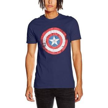 Textil T-Shirt mangas curtas Captain America  Azul