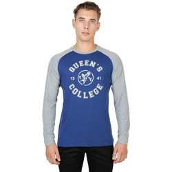 Textil Homem T-shirt mangas compridas Oxford University - queens-raglan-ml Azul