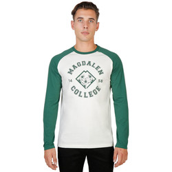 Textil Homem T-shirt mangas compridas Oxford University - magdalen-raglan-ml Verde