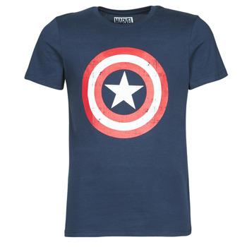 Textil Homem T-Shirt mangas curtas Casual Attitude CAPTAIN AMERICA LOGO Marinho