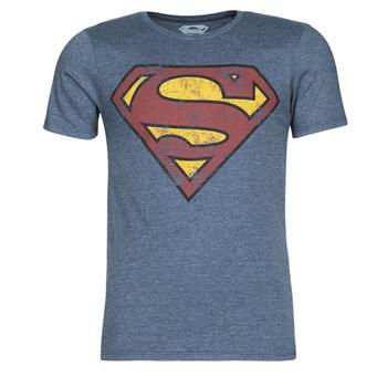 Textil Homem T-Shirt mangas curtas Casual Attitude SUPERMAN LOGO VINTAGE Marinho