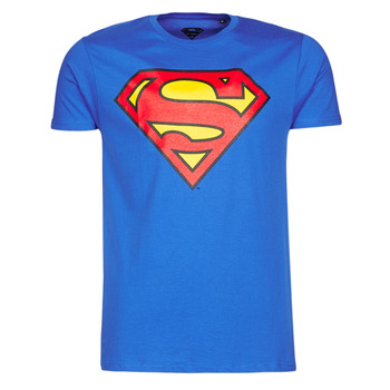 Textil Homem T-Shirt mangas curtas Casual Attitude SUPERMAN LOGO CLASSIC Azul