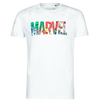Textil Homem T-Shirt mangas curtas Casual Attitude MARVEL HERO LOGO Branco