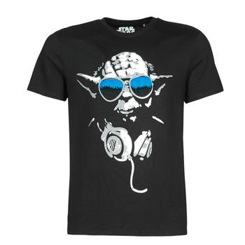 Textil Homem T-Shirt mangas curtas Casual Attitude DJ YODA COOL Preto