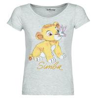 Textil Mulher T-Shirt mangas curtas Yurban THE LION KING Cinza