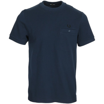 Textil Homem T-Shirt mangas curtas Fred Perry Pocket Detail Pique Shirt Azul