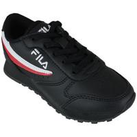 Sapatos Sapatilhas Fila orbit low kids black Preto
