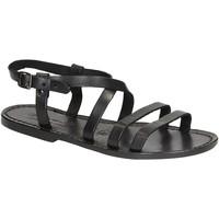 Sapatos Mulher Sandálias Gianluca - L'artigiano Del Cuoio 531 D NERO CUOIO nero