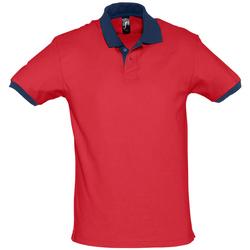 Textil Polos mangas curta Sols PRINCE COLORS Rojo